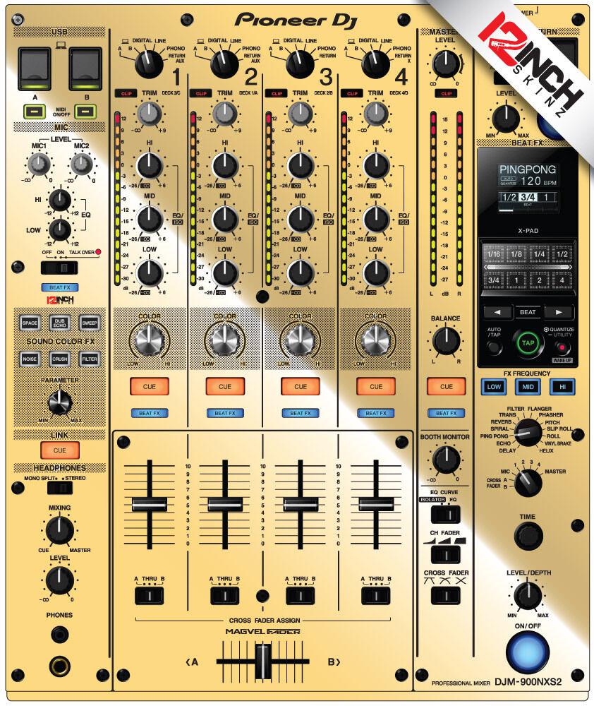 Pioneer DJM-900NXS2 Skin mirror Gold
