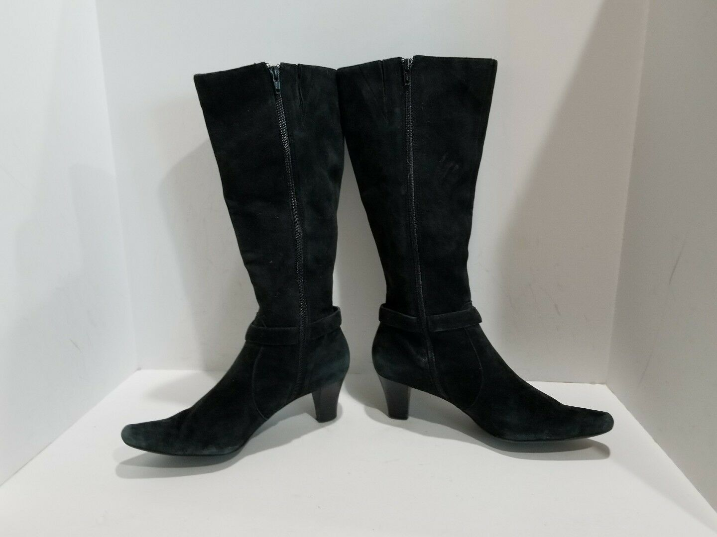 Anne Klein Womens Black Suede Knee High Boots Size 7.5 M