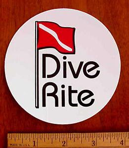 DIVE-RITE-4-034-DIAM-SCUBA-DIVING-UNDERWATER-DIVER-PEEL-OFF-034-PAPER-034-STICKER-DECAL