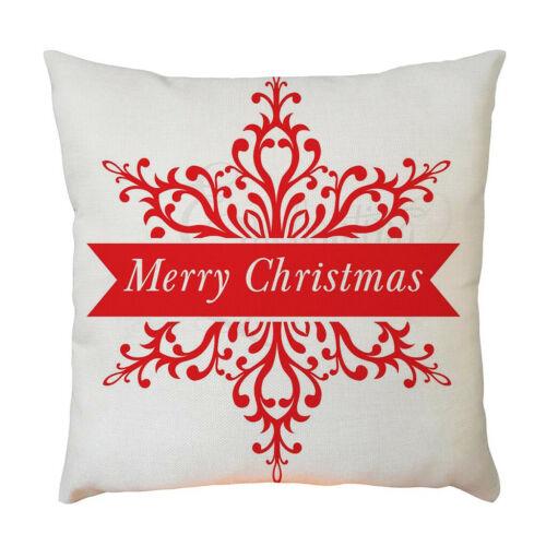 С Рождеством Санта снеговик льняная наволочка диван автомобиль officecushion чехол домой