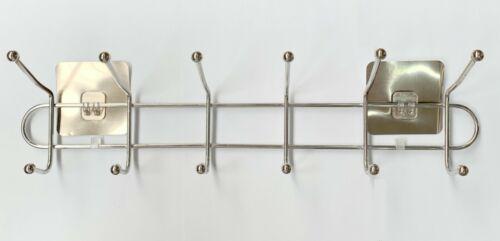 Edelstahl Kleiderhaken Haken Wandhaken selbstklebend ohne Bohren 59 x 13 x 10cm