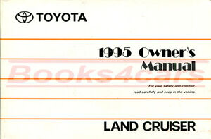 land cruiser owners manual 1995 toyota book handbook ebay rh ebay com toyota land cruiser owner manual toyota land cruiser owners manual 2006