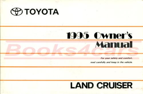 LAND CRUISER OWNERS MANUAL 1995 TOYOTA BOOK HANDBOOK