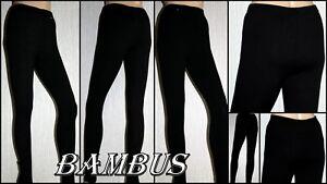 Leggins-senora-pantalones-Jeggings-tregging-negro-bambu-talla-S-M-L-XL-2xl-3xl-4xl
