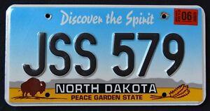 NORTH-DAKOTA-034-PEACE-GARDEN-SPIRIT-BISON-JSS-579-034-2013-ND-Graphic-License-Plate