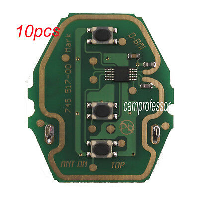 W//rechargeable battery Remote Circuit Board 3 BTN 433.92MHZ for BMW E46 Key Fob