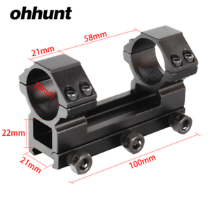 ohhunt Hunt 30mm High Profile 20mm Picatinny Weaver Rail Rifle Scope Rings Mount
