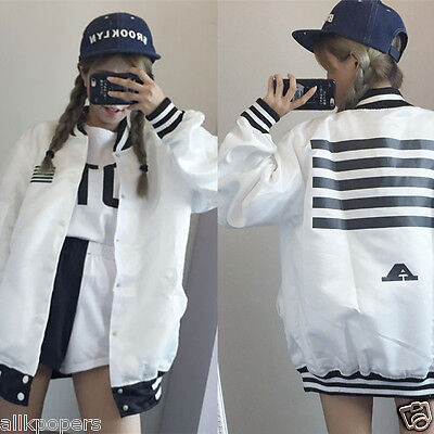 Kpop Bigbang New G-dragon GD JACKET TAEYANG MADE Tour Women Men TWO-SIDE Coat