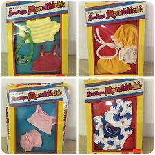 "1980 Boutique Monchhichi 5"" Clothing Set Of 4 Mattel NOS Unopened Vintage"