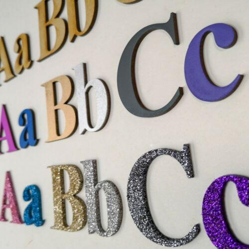 Numbers Alphabet Letters Numbers Wooden Letters Painted Glitter 20 Fonts