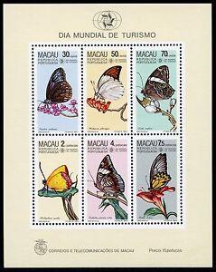 Macau-Macao-1985-Block-3-Schmetterlinge-Butterflies-Papillon-Postfrisch-MNH