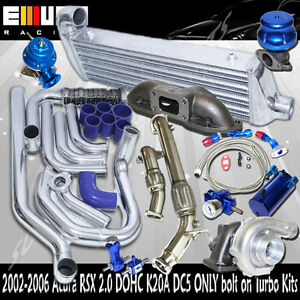Complete Turbo Kit Intercooler KitsManifoldDownpipe FOR ACURA RSX - Acura rsx turbo