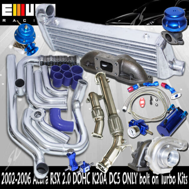 Complete Turbo Kit Intercooler Kits+Manifold+Downpipe FOR
