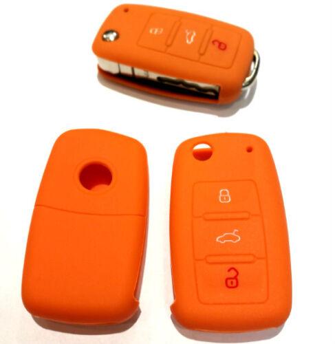 1x Für VW SEAT Funk Schlüssel Autoschlüssel Hülle Etui Schutzhülle Orange