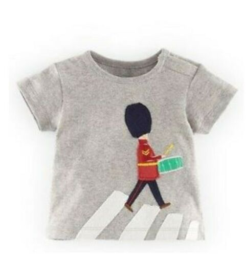 Boden Boys T-Shirts Fun Applique Ex Baby Boden Age 3-24 Months 2-3 Years RRP £16