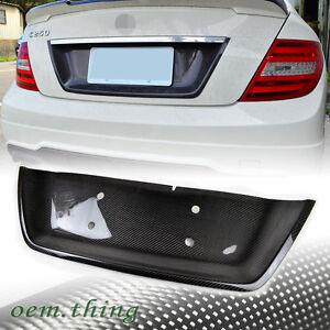 Carbon mercedes benz w204 c class license plate cover c250 for Mercedes benz license plate frame rhinestones