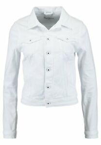 M Core Jeans Ladies Buttn Uk Sleeves White Pepe Long Jacket Womens Up Size 1w7gpqx