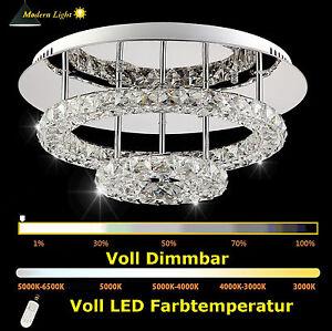 45cm dimmbar led kristall deckenleuchte deckenlicht for Led deckenlicht