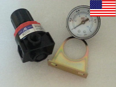 Air Control Compressor Pressure Relief Regulator Valve & Gauge AR2000 US SELLER