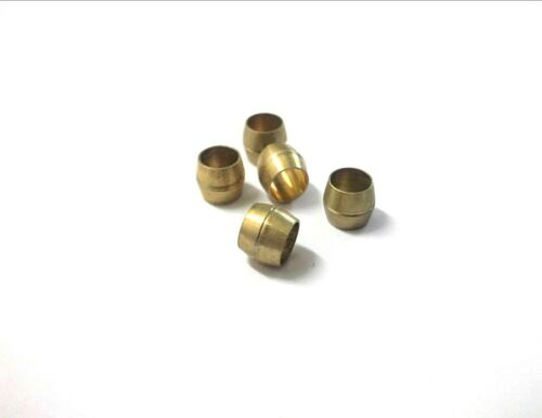 """Pack of 5 *Top Quality! Plumbing Compression Pipe fitting Brass Olives 5//32/"""""""