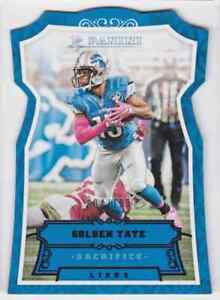 2016-PANINI-SACRIFICE-DIE-CUT-GOLDEN-TATE-4-199-DETROIT-LIONS-75-PARALLEL