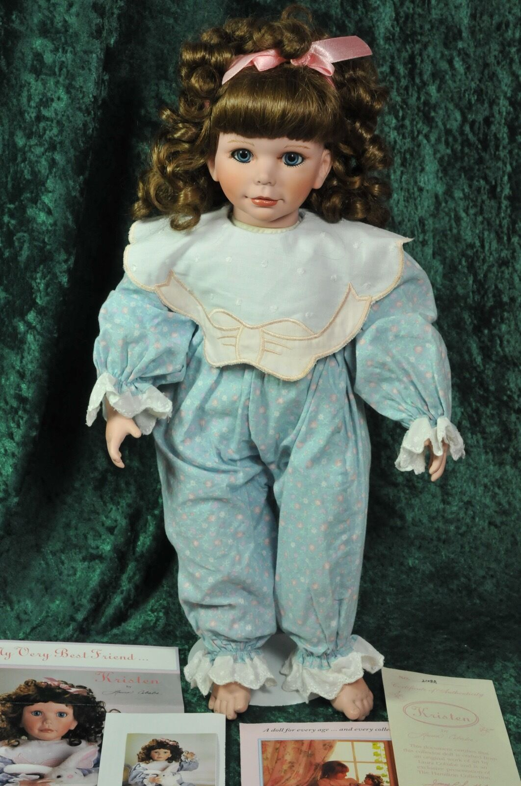 Kristen 1st Edition Vinyl Collectible Doll Laura Cobabe Hamilton Collection COA