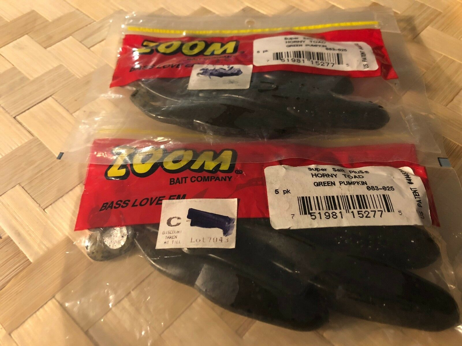NEW Green Pum-Packin 5-Pack Zoom 083025 Horny Toad Topwater Toad 4 1//4-Inch
