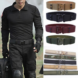 Men-Army-Military-Canvas-Buckle-Belt-Outdoor-Hiking-Sports-Waistband-Adjustable