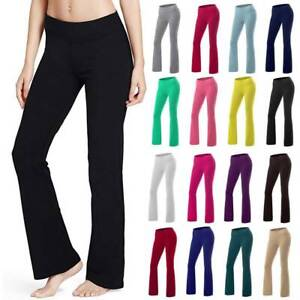 Women Bootcut Yoga Pant Bootleg Flare Workout Casual Wide Leg Loose Fit Trousers