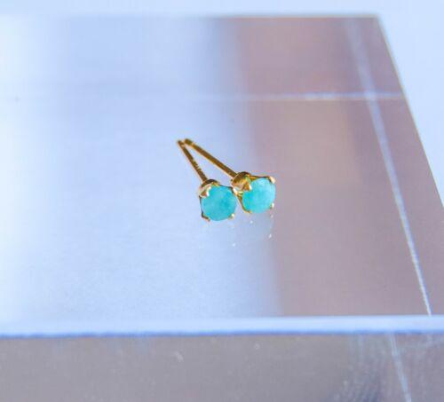 handmade UK gold filled studs gold amazonite studs Amazonite earrings