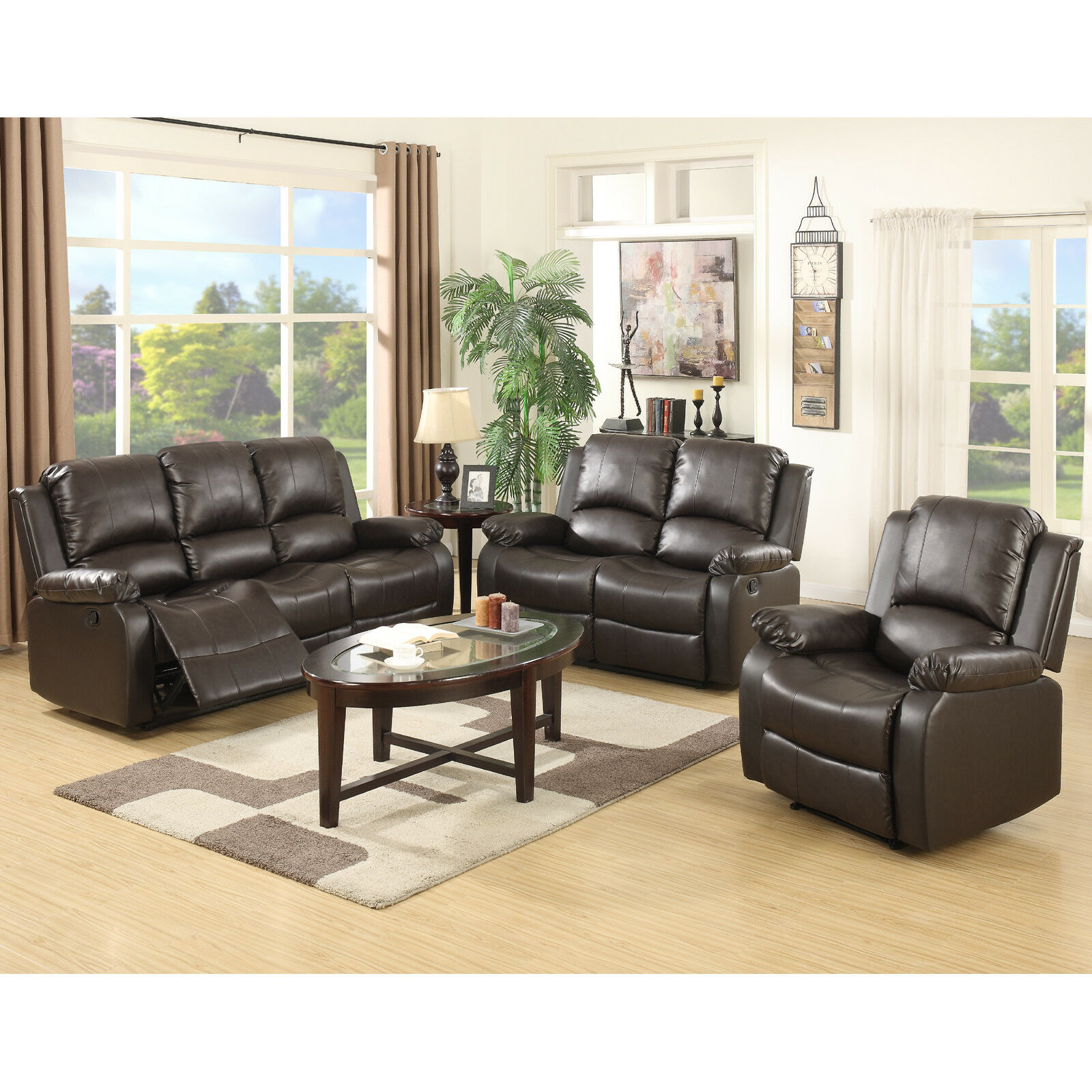 3 Set Sofa Loveseat Chaise Couch