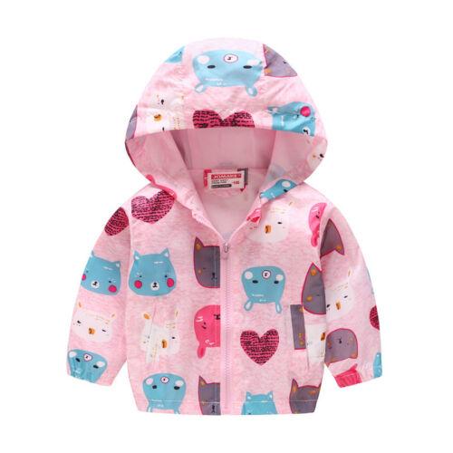 Toddler Baby Girls Kids Hoodie Jacket Coat Winter Warm Outerwear Windbreaker Top