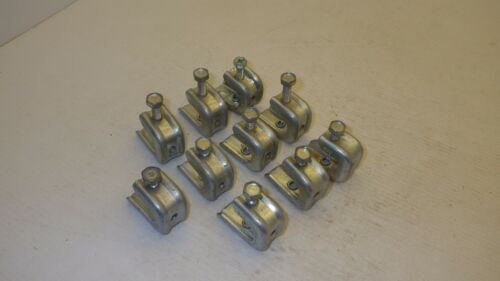 "MINERALLAC 600 BEAM CLAMP FLANGES 1//2/"" 1//4-20 TAPPED BOTTOM LOT OF 10"