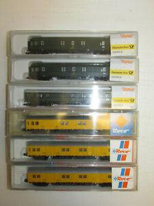 Konvolut-6-Roco-Spur-N-Postwagen-Geraetewagen-24389-25131-OVP