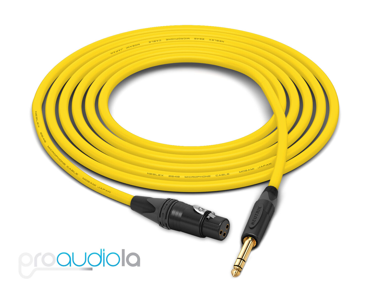 Mogami 2549 Cable   Neutrik Gold XLR-F 1 4  TRS   Gelb 35 Feet   35 Ft.   35'
