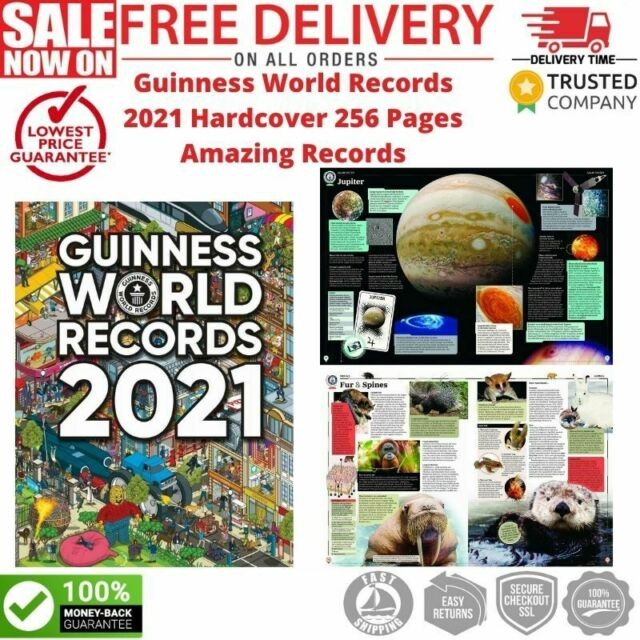 Guinness World Records 2021 Hardcover 256 Pages Amazing Records