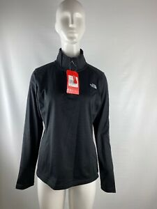 NWT-The-North-Face-Tech-Glacier-Black-1-4-Zip-Slim-Fit-Jacket-Women-s-Size-M