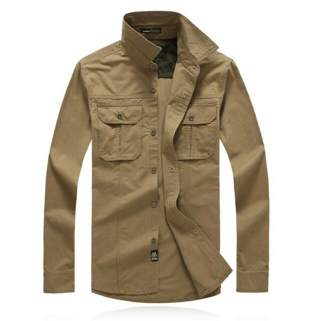 Men's Casual Military Outdoor Tactical Sports Short Long Sleeves Shirts Top 8820