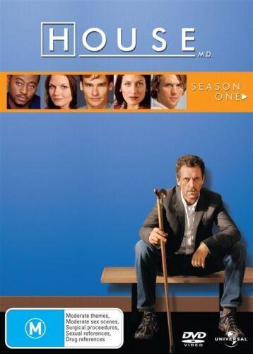 1 of 1 - House : Season 1 (DVD, 2006, 6-Disc Set) Hugh Laurie