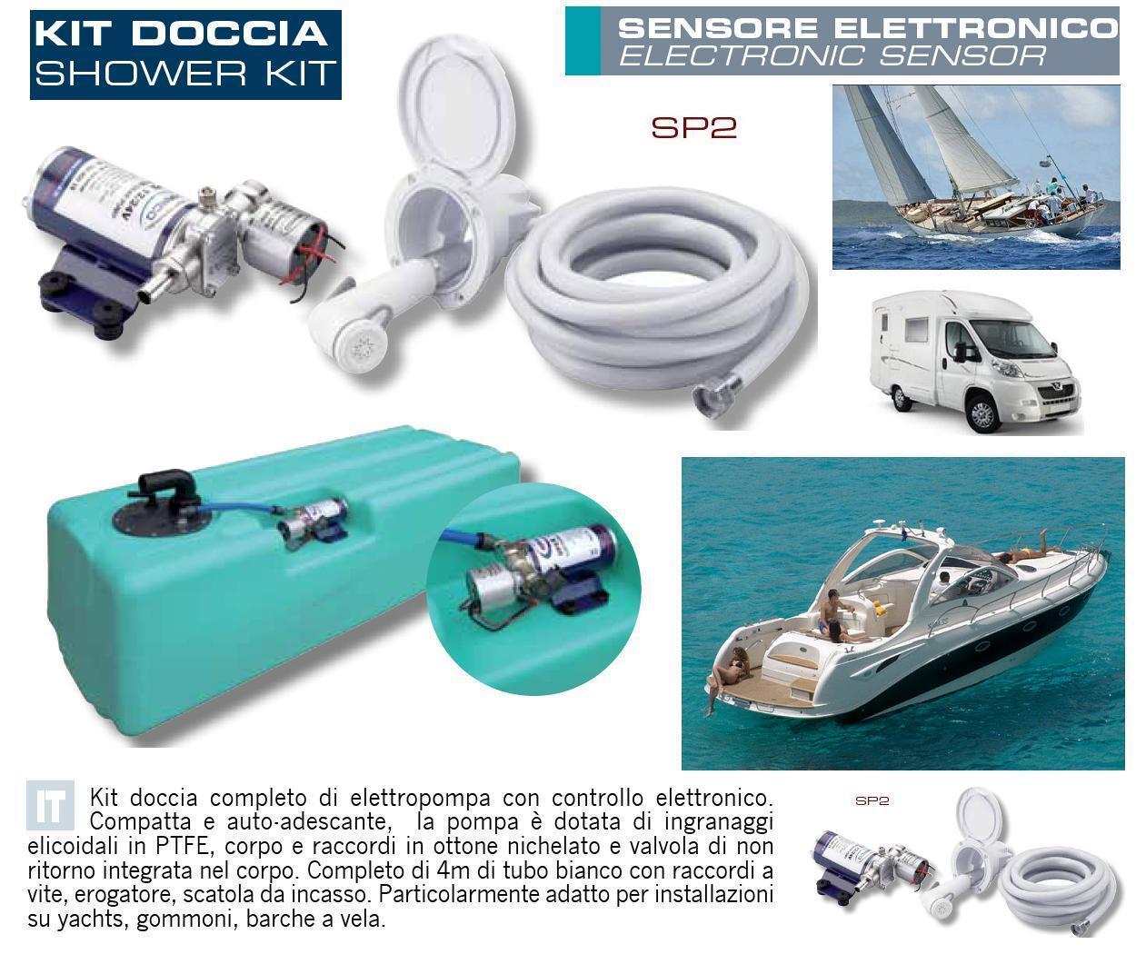Autoklaven Elektronik 12V-24V für Dusche mit mit Dusche Tank 107L Stiefel Camper TK1/2 da8638