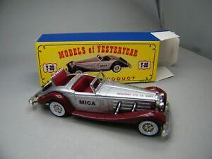 Matchbox-MoY-C2-Y-21-Mercedes-Benz-540K-silber-braun-sehr-selten-OVP-K14