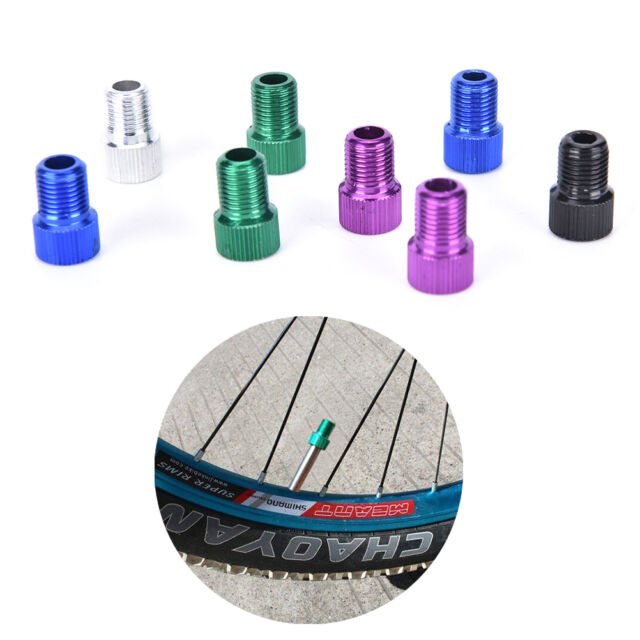 5x Presta to Schrader Valve Adapter Converter Road Bike Bicycle Pump Tube Fg