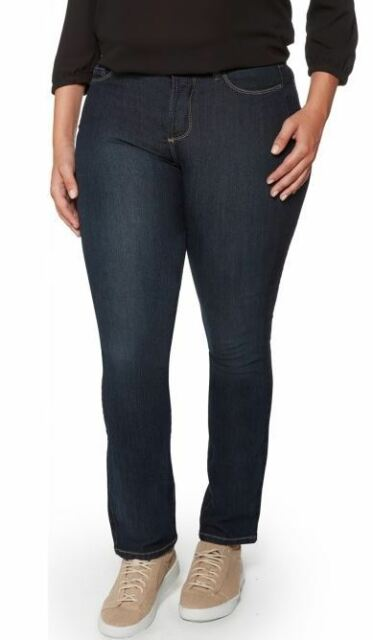 5fab37b46f2 NYDJ Sheri Slim Skinny Jeans 18 Womens Plus Size Blue High Rise Lift Tuck  B54