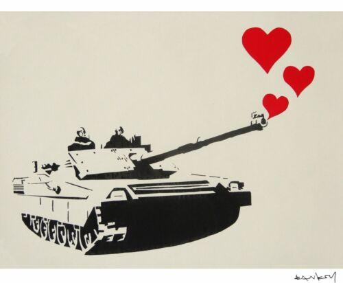Banksy -Niño con metral Ed 300 uds Firma impresa Num a lapiz Certif Edicion