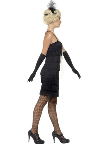 Donna 1920s Flapper Costume Adulto Charleston Gatsby costume da donna Nero