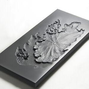 Tray hand carved master black stone tea plate drainage style tea table