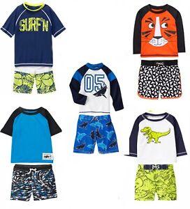 Gymboree 2T 3T 5T 12-18M Alligator Rash Guard or Swim Trunks Shirt Surf Boys New