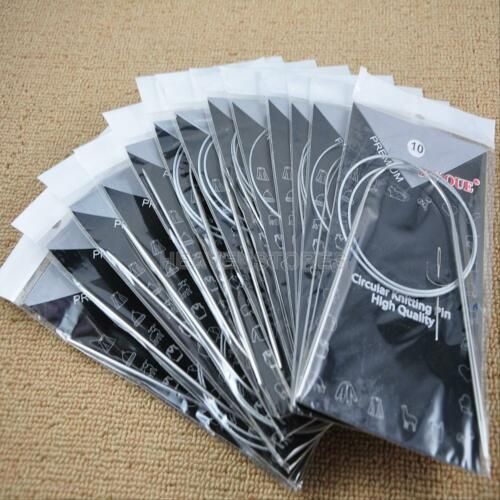"11Pcs Lots 32/"" Stainless Steel Circular Knitting Needles Tool Crochet Size 6-16"