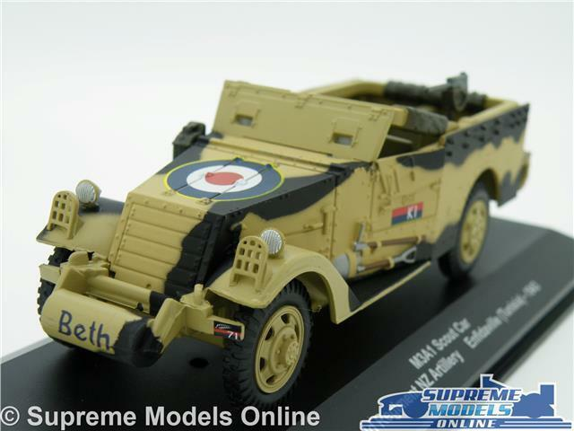 SCOUT M3A1 CAR MODEL ENFIDAVILLE TUNISIA 1 43 SIZE 1943 MILITARY ARMY T3