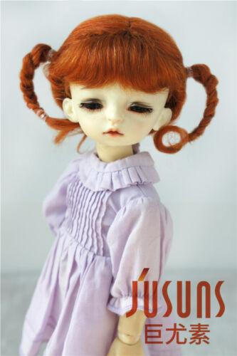 6-7 inch Mohair Doll Wig 3M YOSD Two Braided Doll Hair 1//6 BJD Doll Accessories